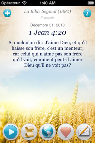 Connu Versets Bibliques du Monde (iPhone, iPod Touch, iPad, Android  WD78