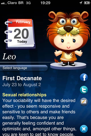تطبيق Horoscope HD screenshot